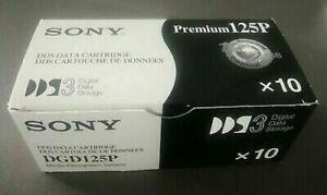 Boite de 10 cartouches de données DDS SONY Premium 125P box ouverte