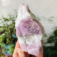 382G Natural Kunzite Quartz Crystal Raw Rough Mineral Specimens Healing Stone