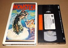 Monster vhs video K-TEL VIDEO Monstroid It Came From The Lake Jim Mitchum