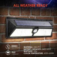 166COB LED Solaire Projecteur Capteur Détecteur Mouvement Jardin Extérieur Lampe