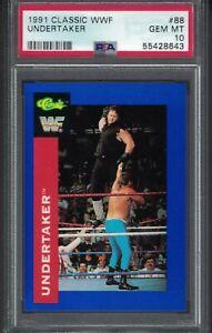 #88 1991 Classic WWF THE UNDERTAKER Rookie Wrestling Card PSA 10  gem mint