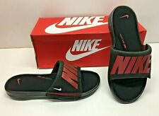 Nike Ultra Comfort 3 Slide Black Red Memory Foam Sandals Slip On Shoes Mens 8