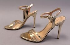 Mango Women's Elisa Metallic Ankle-Cuff Sandals HD3 Gold Size UK:5 US:7.5