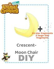Animal crossing new horizons DIY Crescent moon chair +14 star fragments + 2large