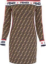 Fendi Mania off shoulder dress kleid IT42/FR38