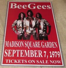 BEE GEES 1979 MADISON SQUARE GARDEN REPLICA CONCERT POSTER W/TOP LOADER