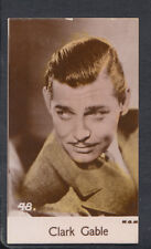 Bridgewater Biscuits, Film Stars 1935 4th Series Card, No 48 - Clark Gable
