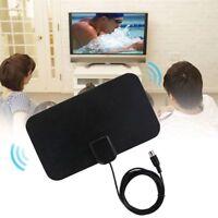TV Antenna HDTV Flat HD Digital Indoor Amplified 50Mile Range TVFox VHF UHF DVB