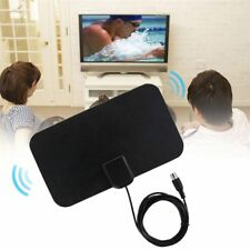 TV Antenna HDTV Flat HD Digital Indoor Amplified 50-Mile Range TVFox VHF UHF DVB