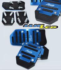 3 Pcs Brand New Blue Aluminum Non-Slip Car Pedals Sports Manual  Cover A