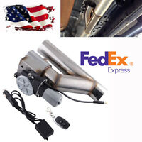 """US Shipping 2.5"""" Electric Exhaust Downpipe Cutout Valve Controller Remote Kit 1x"""