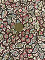 "Vintage Quilt Cotton Fabric Multi Color Floral 35 1/2"" w x 1yd Feed Sack Era"