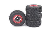 4Pcs 1/10 Short Course Tires&Bead-Lock Wheel Rims For HSP TRAXXAS Slash RC Car