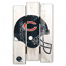 "Chicago Bears Wood Fence Sign 11""x17""  [NEW] NFL Wall Man Cave Fan Wall Wooden"