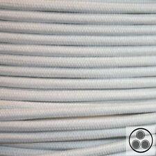 Textilkabel Stoffkabel Lampen-Kabel Stromkabel Baumwolle Weis 3 adrig