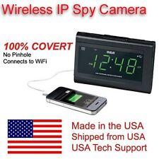 Wifi Alarm Radio Clock Spy Nanny Camera