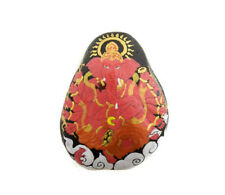 Ganesha Kit & O-Ring Stone with Ganesh Hand Painted Elephant Dieu Hindu 6269