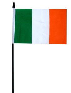 "Ireland Eire Irish Small Hand Waving Flag 6"" x 4"""