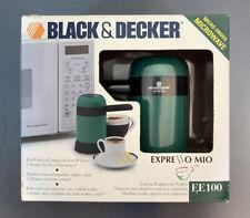 Black & Decker Expresso Mio EE100 Microwave Expresso Maker New In Box 1998