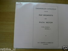 R0106 RAP---ONDERDELEN CATALOGUS RAP MET PUCH MOTOR TYPE---CROWN 5 + IMPERIAL 5