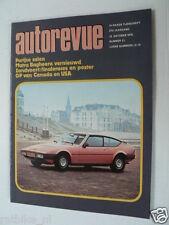 AUTOREVUE 1976 NO 21,MATRA BAGHEERA,BMW 320,GRANDPRIX F1 CANADA HUNT,USA HUNT,