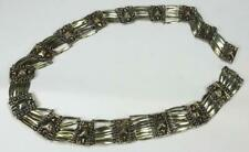 Pyramid Linked Belt Southwest Marked Vintage Taxco Mexico Sterling Silver 925