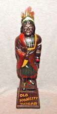 "CIGAR STORE INDIAN CAST IRON COIN BANK ""OLD HONESTY"" 5¢ Hand Painted 13 ½"" H  a"