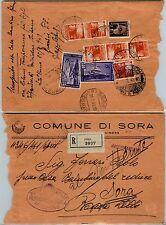 REPUBBLICA-2L+3L+cinque 4L DEMOCRATICA+Due 15L ERP-Raccomandata Sora 26.7.1949