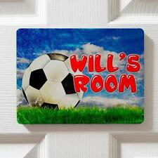 Personalised Football Soccer Children's Bedroom Door Boys Name Sign Plaque DP22