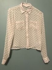 AEROPOSTALE Button Down Top See Through Cloth With Polka Dots.
