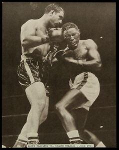 ROCKY MARCIANO vs EZZARD CHARLES YANKEE STADIUM 1954 11x14 SEPIA TONE PRO PHOTO