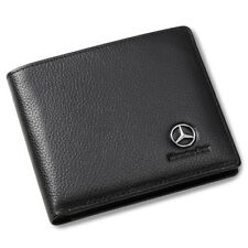 Mercedes Benz Men Wallet Black Genuine Leather with 3 Credit Card & ID Window