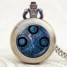 Vintage Steampunk Mens Doctor Who Inspired Time Lord Seal Pocket Watch Xmas Gift