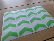Wahoo Kickr Turbo Trainer Replacement Green Chevron Decal Stickers Core 14/16/17
