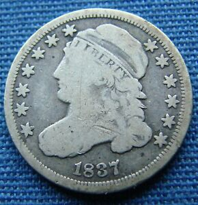 *NICE LOOKING 1837 CAPPED BUST DIME - ESTATE FRESH*