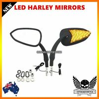 LED Motorcycle Turn Signal Rearview Mirror Harley Sportster XL 883 1200 Touring
