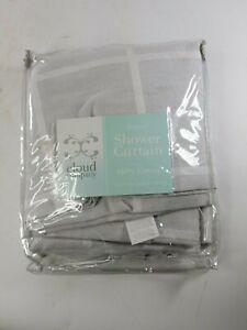 "Cloud Company Shower Curtain Gavin 100 % Cotton 72"" H x 72"" L NEW"
