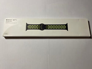 GENUINE APPLE WATCH SPORT BAND 42/44mm NIKE BLACK/VOLT