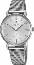 Men's Festina Extra Stainless Steel Mesh Band Silver Dial 36mm Watch F20252-1