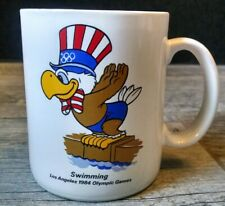 Vintage Los Angeles 1984 Olympic Games Swimming Coffee Mug Sam the Eagle