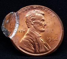 1984 DOUBLE STRUCK LINCOLN CENT MINT ERROR MISTAKE BRILLIANT E72