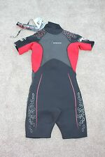 "BNWT - CIRCLE ONE Fuse SHORTIE WETSUIT Childs Size XL 4'10"" Chest 32"" Black Red"