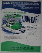 AQUA-DAPT Snowmobile 1960s dealer brochure - French - Canada - ST501000418