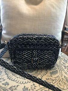 LUG Carousel purse navy ,white wave