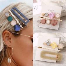 Fashion Set Women's Hair Slide Clips Snap Barrette Hairpin Pins Hair Accessories