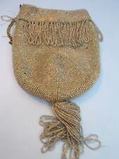 Antique Iridescent  Beaded Evening Bag
