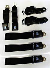 New Black Seat belts GM logo 1967-1969 Firebird Camaro Retractable OE Style 5 pc