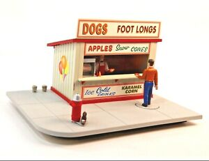 O/O27 Lionel Animated Hot Dog Stand with Moving Figures  in Original Box