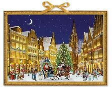 Deluxe Traditional Card Advent Calendar Large - German Town at Christmas