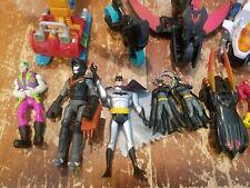 Lot of 15 Mixed Super Hero Action Figures and Vehicles Toys Batman Joker
